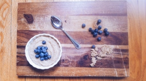Cream of Wheat (brown sugar flavor) & Blueberries (photo cred Crissy LaJoy)